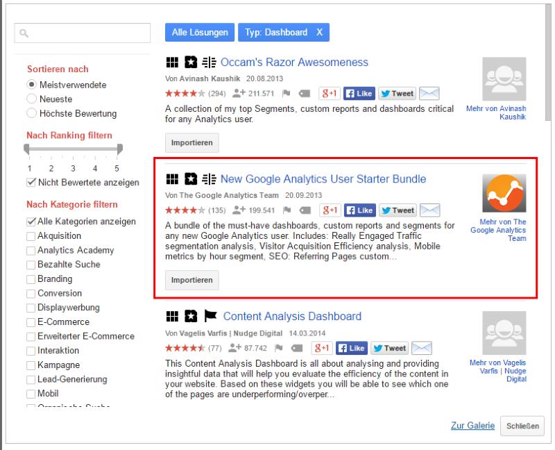 Lösungsgalerie Google Analytics