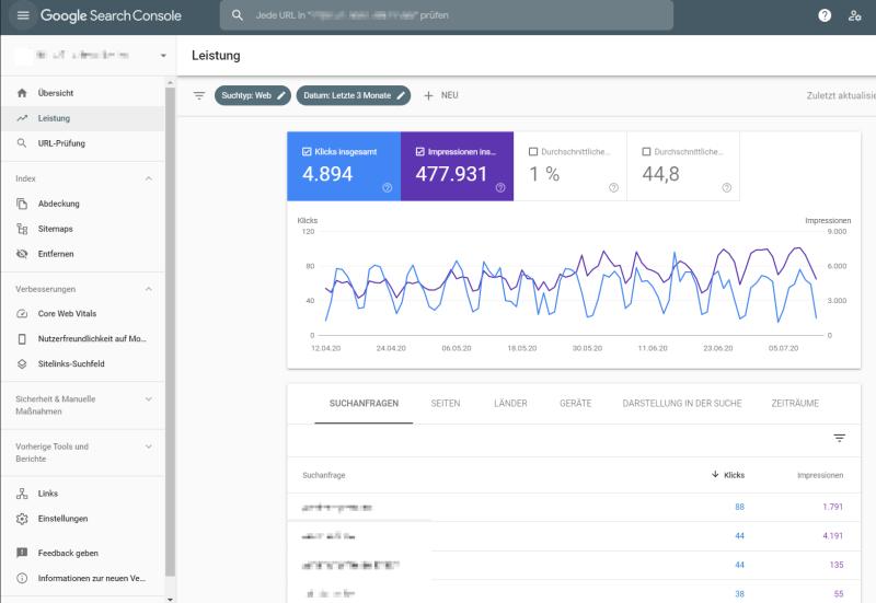 Die Google Search Console ist ein wichtiges Tool zur Optimierung der Website.