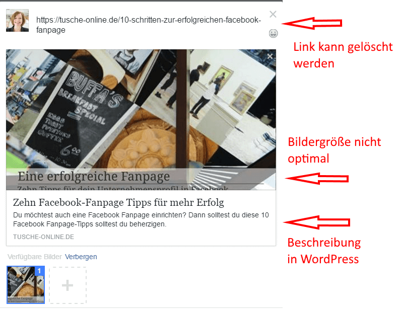 Verlinkungen in Facebook