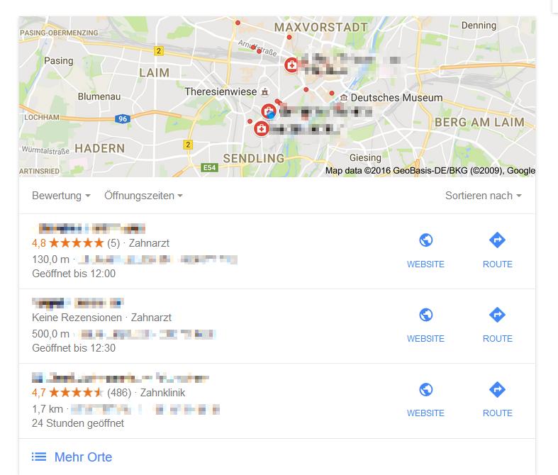 Local SEO lokale Suchergebnisse