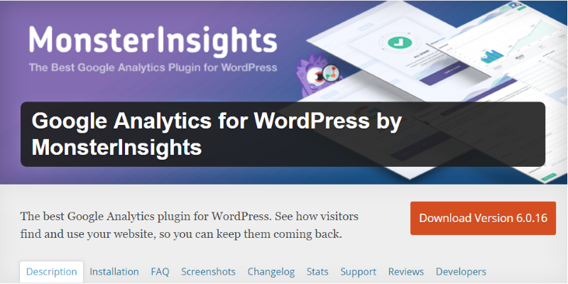 Google Analytics Plugin Monster-Insights