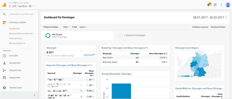 Google Analytics Dashboard für Einsteiger