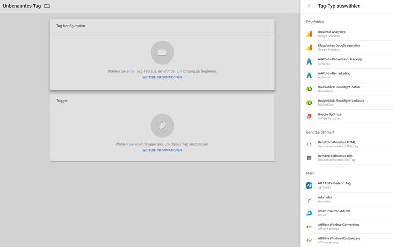 google-tag-manager tags erstellen