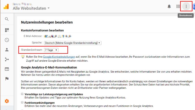 Die Neue Google Analytics Navigation Tusche Online Marketing