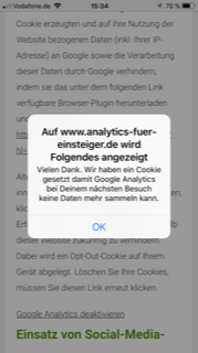 Google Opt Out mit Plugin