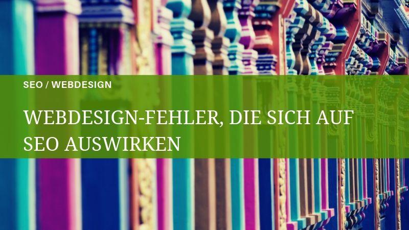 Häufige SEO- und Webdesign-Fehler