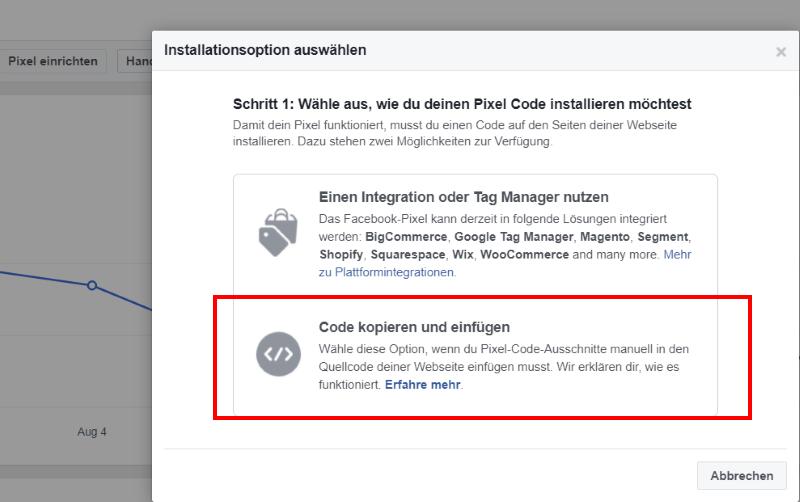 Das Facebook-Pixel erstellen und implementieren
