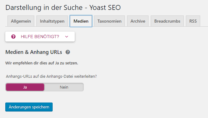 WordPress SEO - attachment URLs