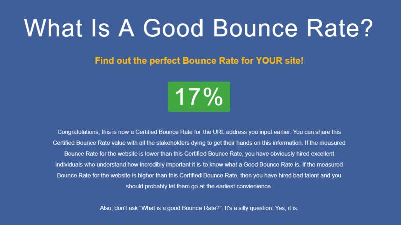 Was ist eine gute Absprungrate für meine Website? Ein kleiner Scherz!
