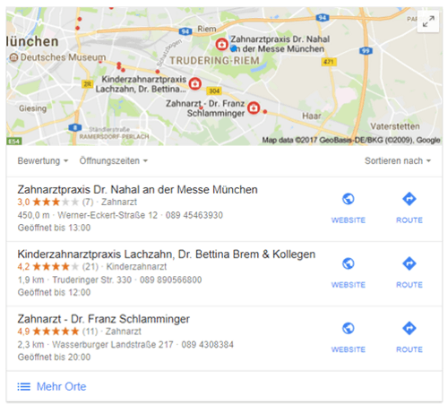 local SEO mit Google MyBusiness