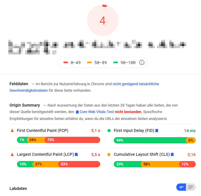 Die Core Web Vitals in der Google Search Console