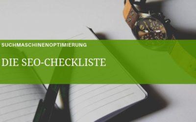 Die SEO-Checkliste 2021