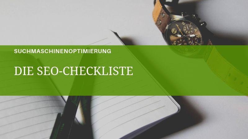 Die SEO-Checkliste für 2019