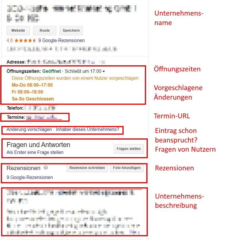 Auch Nutzer können dein Google MyBusiness bearbeiten und Änderungsvorschläge machen