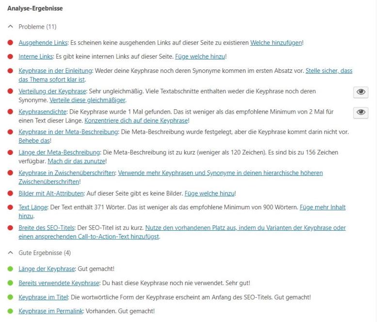 Yoast SEO-Plugin - Die SEO-Analyse