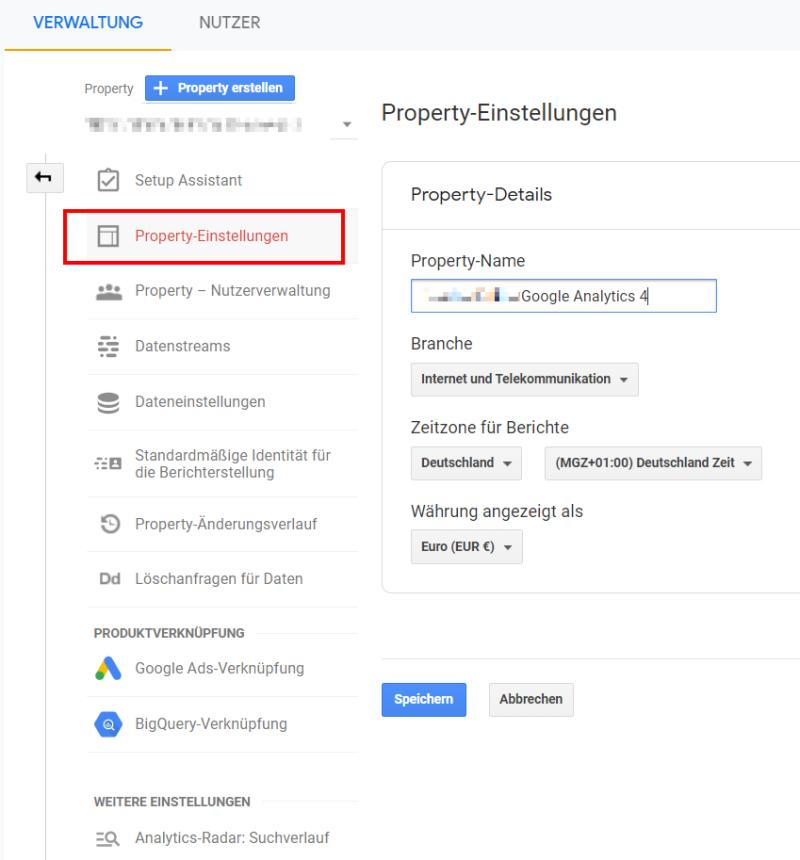 Richtige Benennung der Property